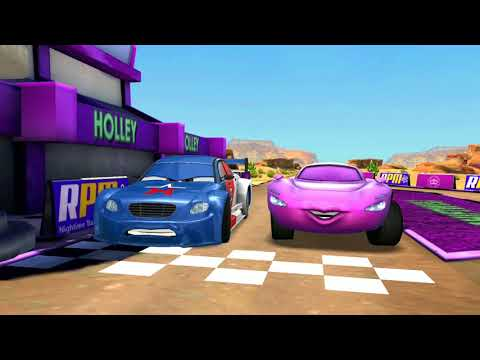 Disney PIXAR Cars Pyotr Racinov Vs Ramone & Lightning McQueen Track Racing Game