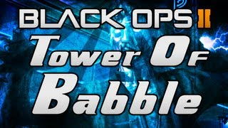 """Black Ops 2 ZOMBIES """"Tranzit"""" - """"TOWER OF BABBLE"""" - Easter Egg Achievement Guide! (Richtofen)"""