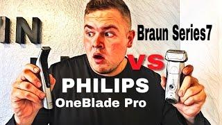 Rasieren aber RICHTIG // Braun Series 7 vs PHILIPS OneBlade Pro Vergleich