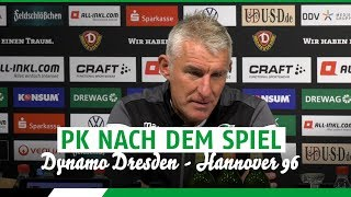 PK nach dem Spiel | Dynamo Dresden - Hannover 96
