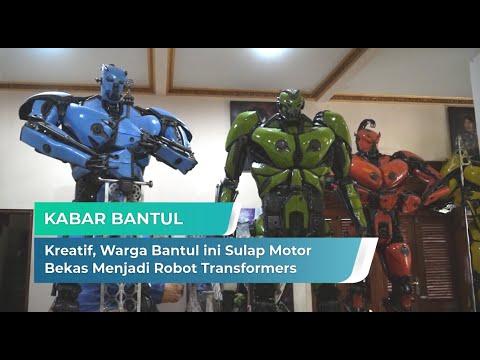 Kreatif, Warga Bantul ini Sulap Motor Bekas Menjadi Robot Transformers | Kabar Bantul