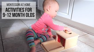 MONTESSORI AT HOME: Activities for Babies 9-12 Months