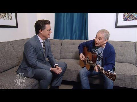 Paul Simon And Stephen Colbert Are 'Feelin' Groovy'