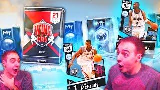 NBA 2K17 My Team NEW WINGMAN PACKS! OMG CLUTCH DIAMOND PULL? ITS LIT!