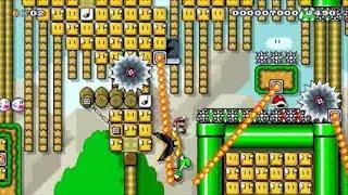 【Super Mario Maker】クリア率0%(0/3143)超鬼畜ヨッシー乗り捨てコースに挑戦【マリオメーカー】