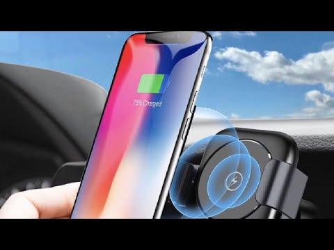 Humixx Qi Wireless Charger KFZ Smartphonehalterung im Test Review - iPhone X, Smasung Galaxy S9, uvm