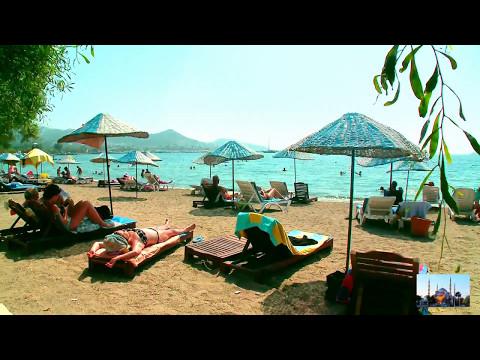 Турция, Бодрум: Красивый пляж рядом с отелем Yalıpark