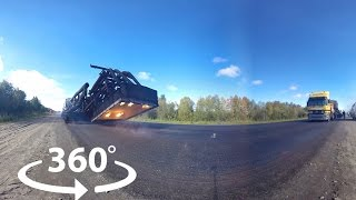 "Технология укладки асфальта ""Экохитер"" | Видео 360 | Video 360 degrees"