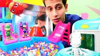 Pijamaskeliler çizgi film oyuncakları. Romeo top havuzunu donduruyor