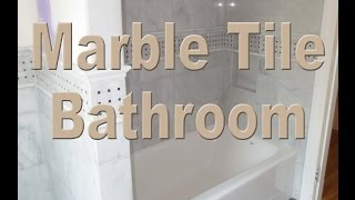 Complete installation Large Format Marble and Slate bathroom time lapse