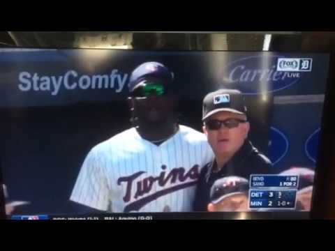 Detroit Tigers/ Minnesota Twins benches clear
