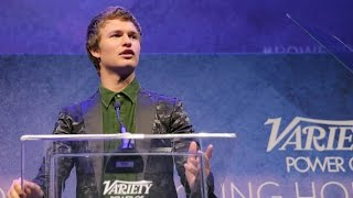 Ansel Elgort, Ansel Elgort calls out Sophie Turner in Power of Young Hollywood Speech