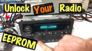 2003 04 05 How to VIN Unlock a Salvage Yard GM RDS Radio w/ Tech2 OR Manually Programming its EEPROM