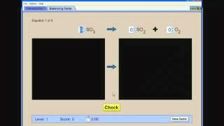 PhET Simulation On Balancing Chemical Equations