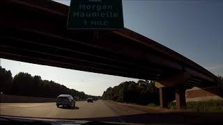Interstate 40 Arkansas - Exit 159 to Mile 135