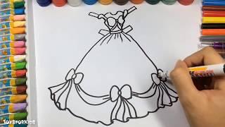 Развание и раскраска для девочек, Как нарисовать платье принцессы