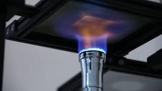Détermination de la transmission de chaleur à l'exposition d'une flamme