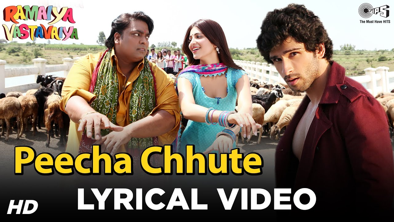 Peecha Chhute -   Ramaiya Vastavaiya   Girish Kumar, Shruti Haasan - Mohit Chauhan Lyrics in hindi