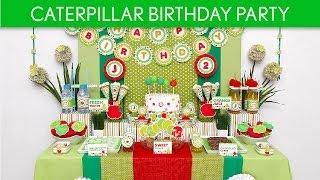 Caterpillar Birthday Party Ideas // Caterpillar - B57