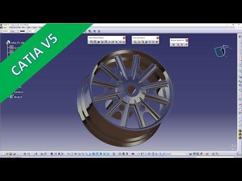 Advanced Rim - Felge- Catia v5 Training - Part Design - YouTube