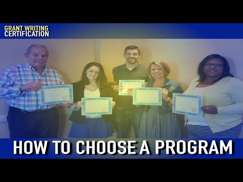 Grant Writing Certification Program: How To Choose What's Right ...