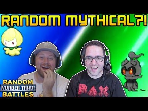 MYTHICAL POKEMON WINS THE GAME! | RANDOM Wonder Trade Battles vs JustPlayPokemon!