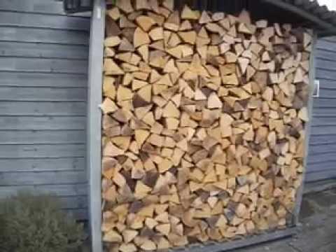 Brennholzstapelhilfe aus Metall