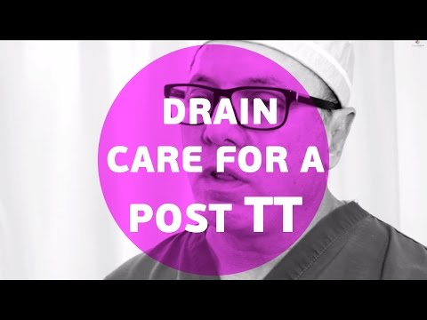 What is the proper drain care for a post tummy tuck/abdominoplasty ?
