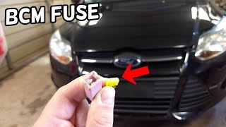 BCM BODY CONTROL MODULE FUSE LOCATION AND REPLACEMENT FORD FOCUS MK3 2012-2018