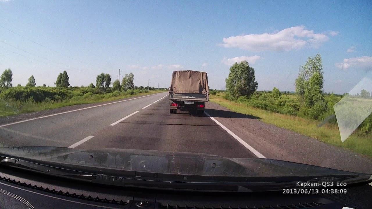 Водитель бензовоза уснул за рулем