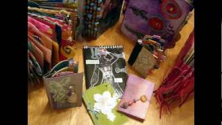 Make Mini Books From Recycled Greetings Card ~ Book #5: Cut & Slot Book
