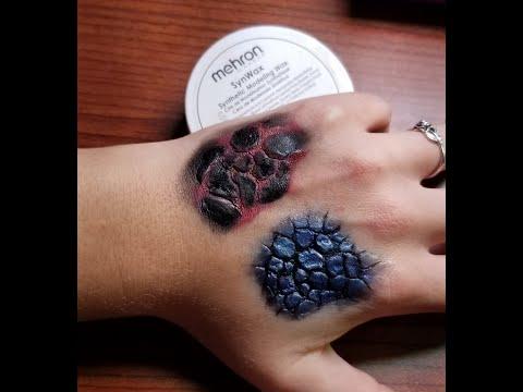 Dragon Scale Tutorial| Mehron Synwax|#Halloween Makeup| #SFXMakeupBasics