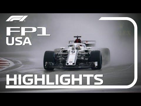 2018 United States Grand Prix: FP1 Highlights