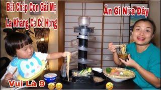 🇯🇵Sốc Tới Nốc Với Cách Ăn Mì Trôi Bằng Tay Của Sa🤣 - Mì Trôi Nagashi Somen Lạnh Kiểu Nhật#362