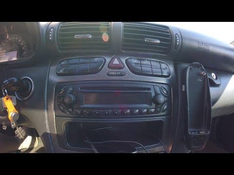 Aux в магнитолу Mercedes audio 30 aps becker 4718 w203