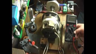 Как подключить двигатель от советской  стиральной машинки