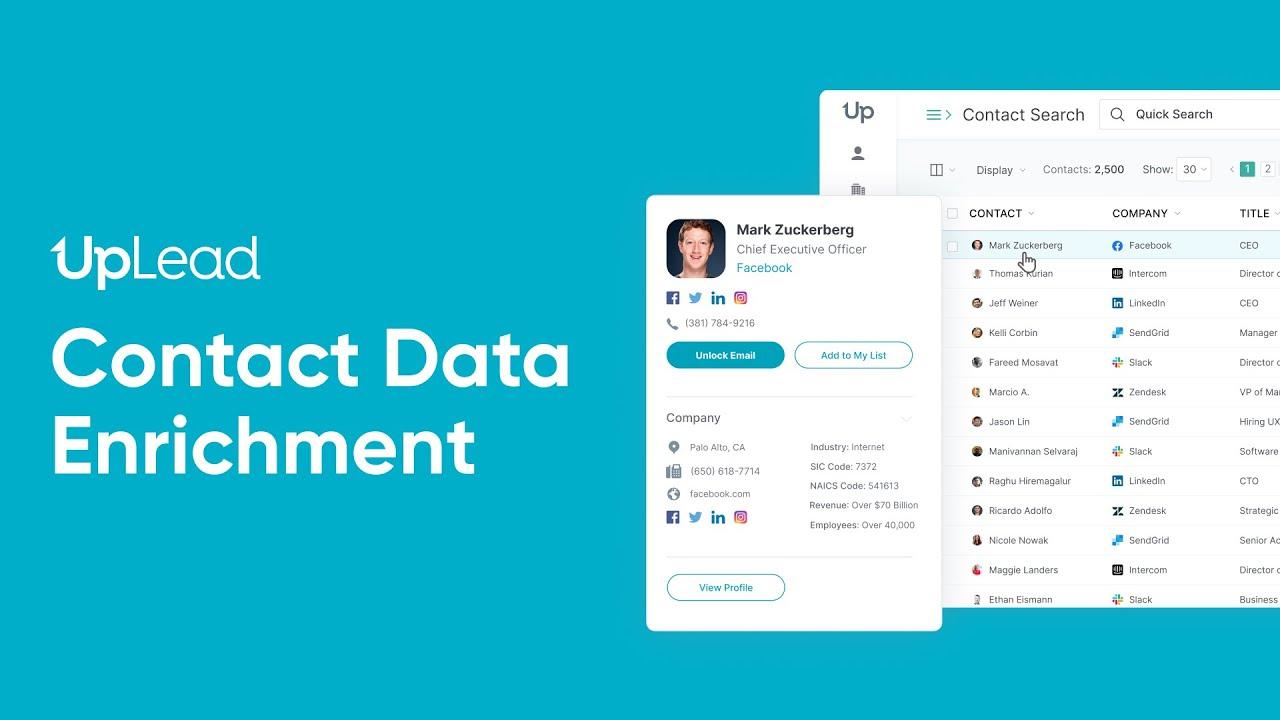 Contact Data Enrichment – Uplead