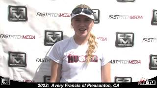 2022 Avery Francis Athletic Outfielder Softball Skills Video - Lady Hustle 18 Gold Marshall