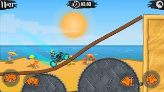 Moto X3M Bike Race Game Pool Party All Levels - Gameplay