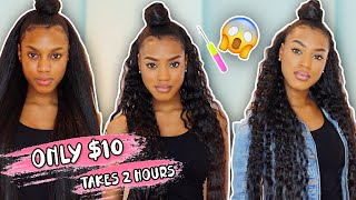 $10 AND TAKES 2 HOURS!! CROCHET  STRAIGHT TO CURLY STYLE DETAILED