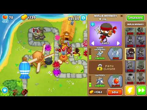 Bloons TD 6 - CHIMPS Town Center (double speed no pause