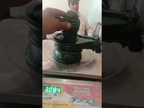 Green Jade (Margaj) Shivling / green emerald Shivling for Home Pooja