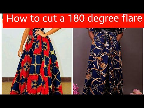 How to cut a 180 degree flare [peplum]