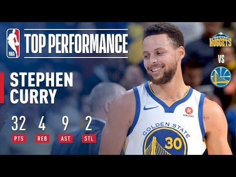 Stephen Curry Scores 32 In Win vs. Nuggets | January 8, 2018