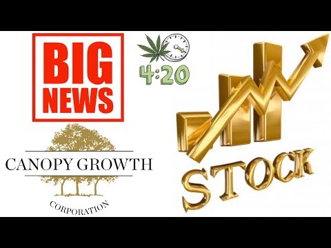 Canopy growth Big news move the MJ stock market today🤑
