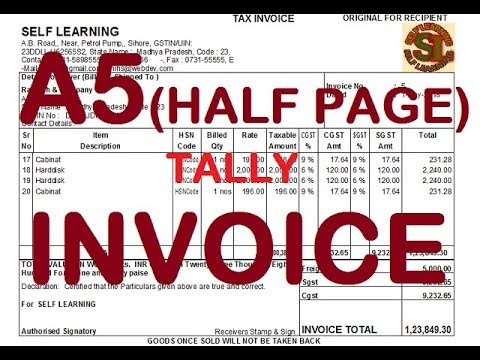 Download Half Page Invoice In Tally Without Tdl Video 3GP Mp4 FLV HD