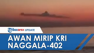 VIRAL Video Awan Disebut Mirip Kapal Selam KRI Nanggala-402 di Bali