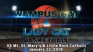 Lady Cats vs Mount Saint Mary's/ Wampus Cats vs Little Rock Catholic