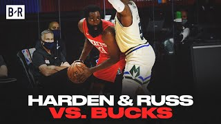 James Harden And Russell Westbrook Drop 55 vs. Bucks   Game Highlights