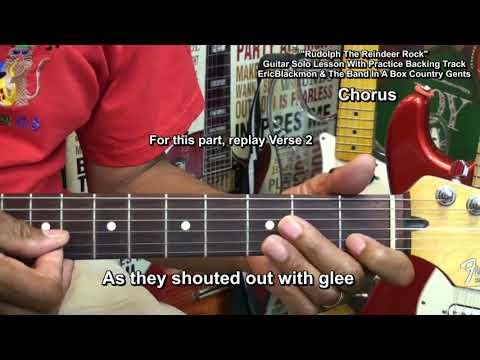 Rudolph Die rote Nase Rentier Gitarre Solo Lektion